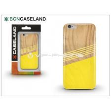 BCN Caseland Apple iPhone 6/6S szilikon hátlap - BCN Caseland Wooden Lines Amarillo - yellow tok és táska