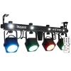 Beamz beamZ LED ASTRO, 4 utas LED fényeffekt, 4 x 10 W COB LED, DMX, lábkapcsoló