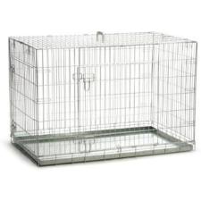 BEEZTEES fémketrec 2 ajtós 109x69x75 cm szállítóbox, fekhely kutyáknak