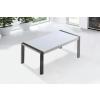 Beliani Étkezoasztal - Rozsdamentes asztal - Fehér - 180x90 cm - ARCTIC I