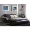 Beliani Fekete műbőr designer ágy ágyneműtartóval 180 x 200 cm AVIGNON