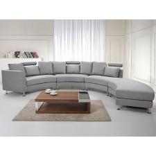 Beliani Félkör ülogarnitúra - Kárpitozott kanapé - Szövet - világosszürke - ROTUNDE bútor