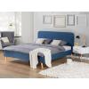 Beliani Kárpitozott ágy - 180x200 cm - Franciaágy - Sötétkék - RENNES