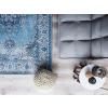 Beliani Kék mintás pamutszőnyeg 160 x 230 cm ALMUS