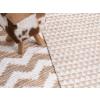 Beliani Kézzel készült szőnyeg bézs színben 80 x 150 cm TUNCELI