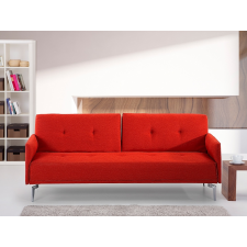 Beliani Lucan Kárpitozott szövet kanapéágy - piros bútor