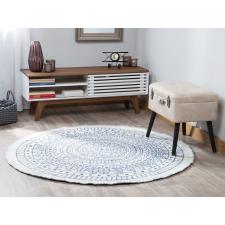 Beliani Megfordítható Kék És Fehér Kör Alakú Szőnyeg ø140 cm YALAK lakástextília