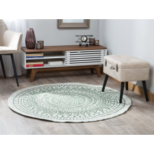 Beliani Megfordítható Zöld És Fehér Kör Alakú Szőnyeg ø140 cm YALAK lakástextília