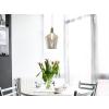 Beliani Mennyezeti üveg lámpa aranysárga SANTON