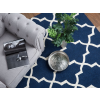 Beliani Sötétkék pamut szőnyeg 140x200 cm - SILVAN