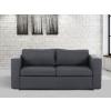 Beliani Szövet kanapé - 3 személyes kanapé - Sötétszürke kanapé - HELSINKI