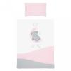 Belisima 5-részes ágyneműhuzat Belisima Teddy Bear 100/135 rózsaszín