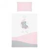 Belisima 6-részes ágyneműhuzat Belisima Teddy Bear 90/120 rózsaszín