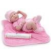 Berenguer Berenguer újszülött lány karakterbaba pöttyös pink ruhában 36cm