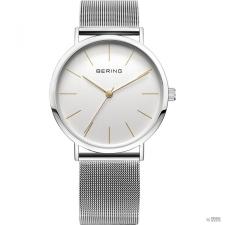 Bering Ékszer férfi óra óra karóra vékony klasszikus - 13436-001 Meshszíj karóra