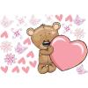 Best4Baby Maci szívvel falmatrica - átlátszó