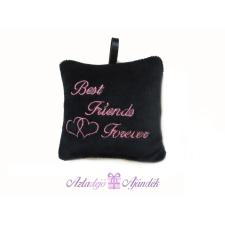 Best Friends Forever plüss csuklópárna 35x35 fekete plüssfigura