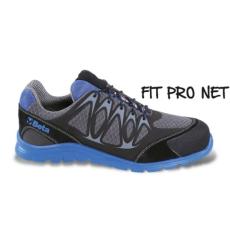 Beta 7340B/44 jól szellőző mesh szövet munkavédelmi cipő nagyfrekvenciás PU betétekkel és védő erősítéssel a hasítottbőr orrnál, 44 méret