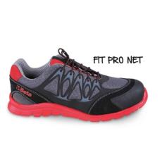 Beta 7340R/46 jól szellőző mesh szövet munkavédelmi cipő nagyfrekvenciás PU betétekkel és hasítottbőr kéreg orr erősítéssel, 46 méret