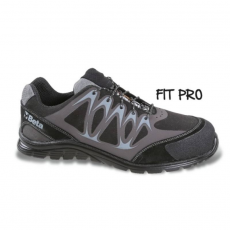 Beta 7341N/41 Mikro hasítottbőr munkavédelmi cipő, mérsékelten vízálló, nagyfrekvenciás PU betétekkel és védő erősítéssel a hasítottbőr orrnál, 41 méret