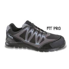 Beta 7341N/44 Mikro hasítottbőr munkavédelmi cipő, mérsékelten vízálló, nagyfrekvenciás PU betétekkel és védő erősítéssel a hasítottbőr orrnál, 44 méret