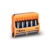 Beta 860PHZ/A10 10 csavarhúzóbetét és mágneses betéttartó, műanyag dobozban