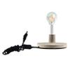 - Beton talpas asztali lámpa (E27) szürke