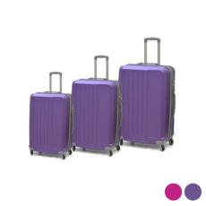 BigBuy Home Kabin bőrönd Set ABS 3 Darabok (Fukszia)