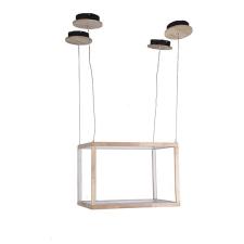 BigBuy Home Mennyezeti Lámpa Rectangle Fa 47 x 48 x 47 cm kültéri világítás