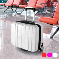 BigBuy Office Húzós Bőrönd Notebook Rekesszel (46 x 40 x 19 cm) 144376 Fehér