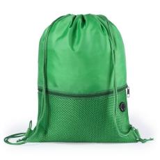 BigBuy School Hátizsák Táska Karikával és Fülhallagtóval 145588 Zöld