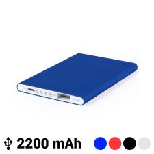 BigBuy Tech Ultra Vékony Power Bank Mikro USB-vel 2200 mAh LED 145538 Fekete power bank