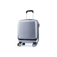 BigBuy Travel Húzós Bőrönd Notebook Rekesszel 146044 Ezüst színű
