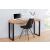 Bighome.hu Písací stôl DELA 120 cm - čierna, prírodná