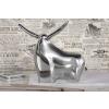 Bighome.hu Szobor Big Bull alumínium ezüst