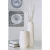 Bighome.hu Váza TEO, 22,50 cm - biela