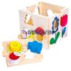 Bino Toys Fa formaillesztő dobozka