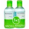 Bioderma SÉBIUM H2O MICELLAFESZTIVÁL / BIODERMA SÉBIUM H2O ARC- ÉS SMINKLEMOSÓ CSOMAG 2X250 ML