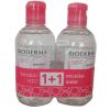Bioderma Sensibio H2O arc- és sminklemosó 500ml+500ml DUO PACK