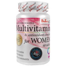BioTech Multivitamin For Women tabletta 60db vitamin