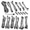 Bitfénix BitFenix Alchemy 2.0 PSU kábelkészlet, BQT széria DPP - fekete/fehér