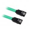 Bitfénix BitFenix SATA 3 Kábel 30cm - Zöld / Fekete