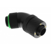Bitspower Csatlakozó 45° G1/4, 13/10 mm - matt fekete, forgatható