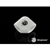 Bitspower Deluxe White 90-Degree With Dual Inner G1/4