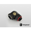 Bitspower Multi-Link Adapter Carbon Black Enhance  90° forgatható G1/4