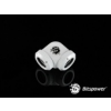 Bitspower Multi-Link Adapter Deluxe White Enhance 90° G1/4 12mm AD - fehér /BP-DWE90DML/