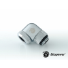 Bitspower Multi-Link Adapter Silver Shining Enhance 90° forgatható G1/4