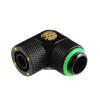 Bitspower Winkel Csatlakozó G1/4, 11/8 mm - matt fekete, forhatható