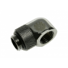 Bitspower Winkel G1/4 - G1/4 - fényes fekete, forgatható