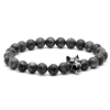Black Moon - Labradorit Gyöngy Karkötő - Acél Farkas Dísz